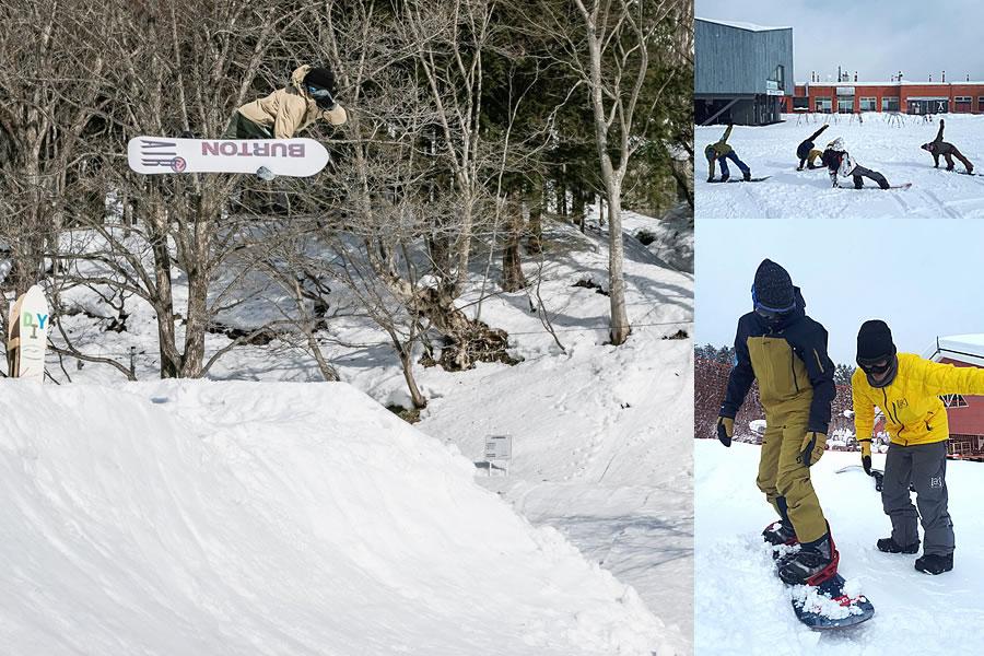スノーボードスクールの写真